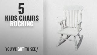 Top 10 Kids Chairs Rocking [2018]: Gift Mark Child's Colonial Rocking Chair, White