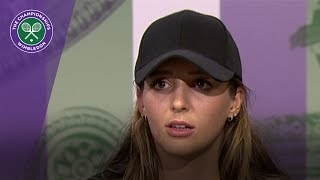 Laura Robson Wimbledon 2017 first round press conference