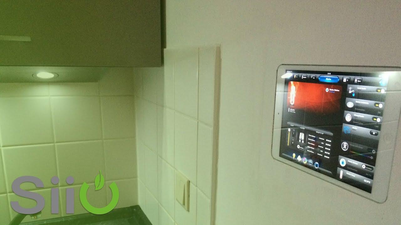 tablet wandeinbau ipad mini als smart home interface. Black Bedroom Furniture Sets. Home Design Ideas
