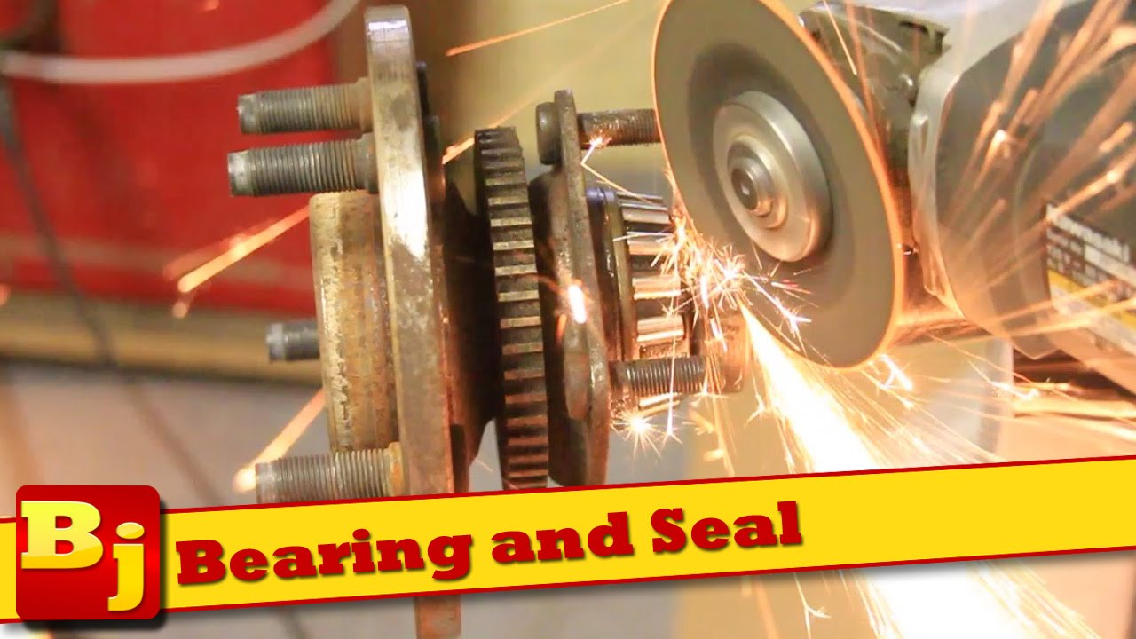 remove  rear axle bearing change axle seal youtube