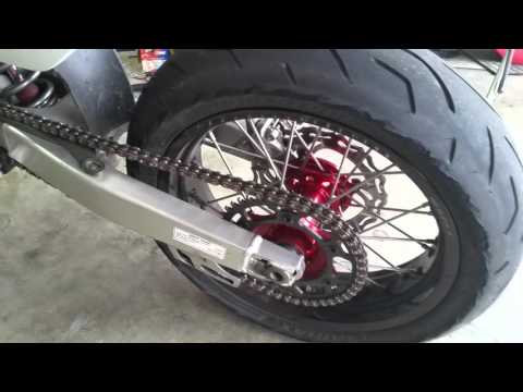 CRF 450X supermoto Wheels Install Tips