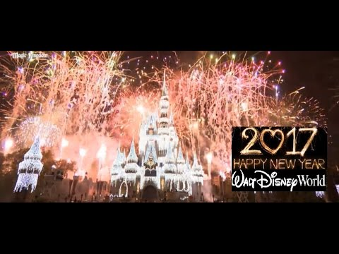 New Years Eve Fireworks Walt Disney World 2017 - Magic Kingdom Fantasy  In The Sky Full Show