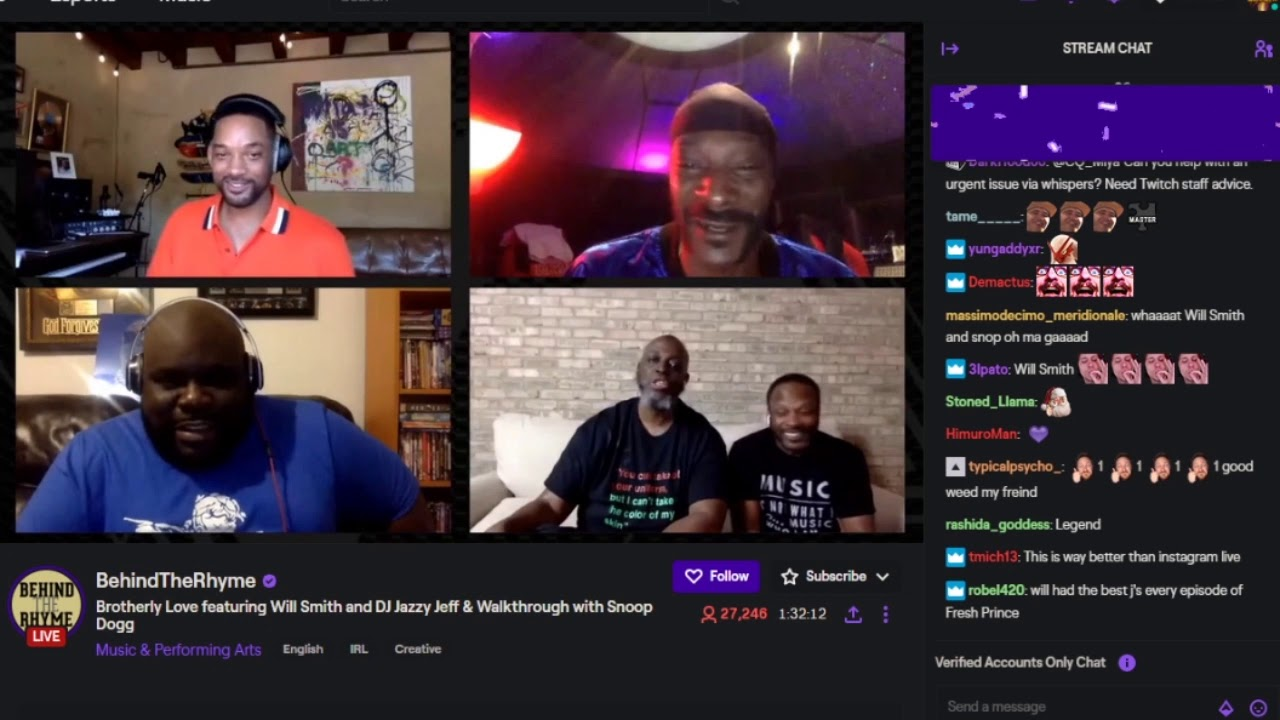 Download Snoop Dogg Suprises Will Smith & DJ Jazzy Jeff on Twitch Live