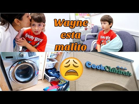 Wayne esta Malito ,  Lavando Muchas cobijas Vomitadas😫 - Abril 19, 2017 ♡IsabelVlogs♡