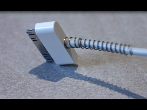 Как надеть пружину на зарядку