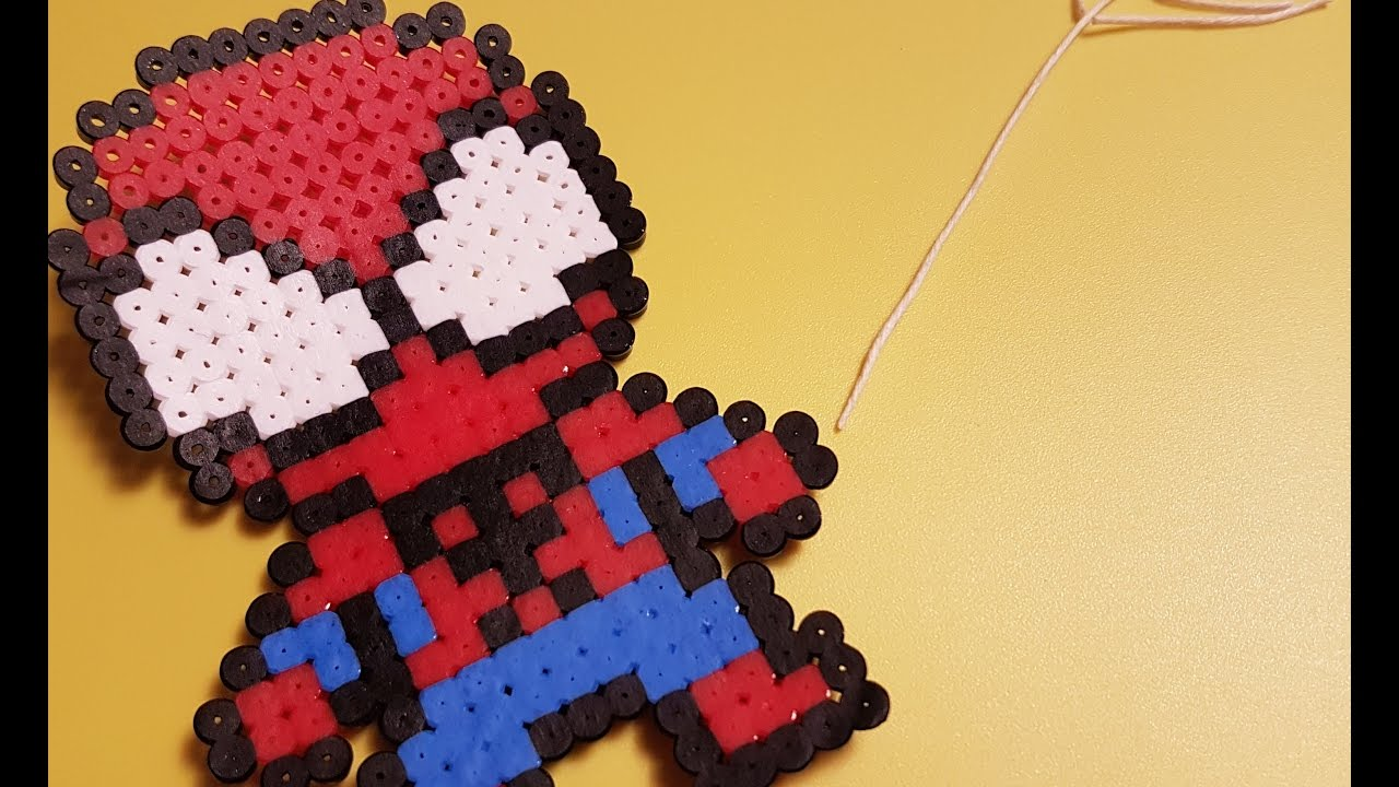 Hama Beads Spiderman: Hama Beads Stop Motion Tutorial