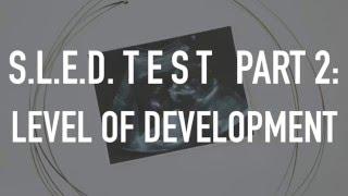 S.L.E.D. Test Part 2: Level of Development