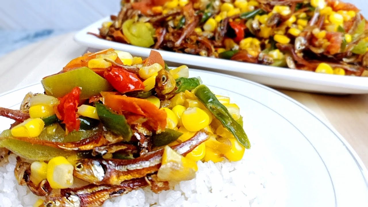 Tumis Jagung Teri yang Nikmat Banget.! Masakan Sederhana Sehari-Hari