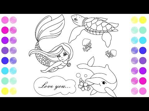 Раскраска русалочка - YouTube