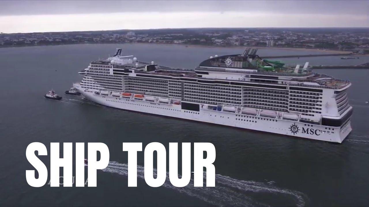 MSC GRANDIOSA - Visite du Navire et Cabines - YouTube