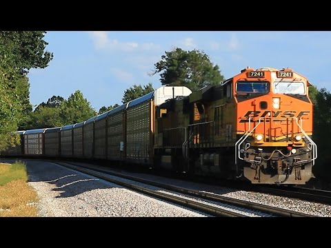 HD: Freight trains roll past brand-new passing track on BNSF