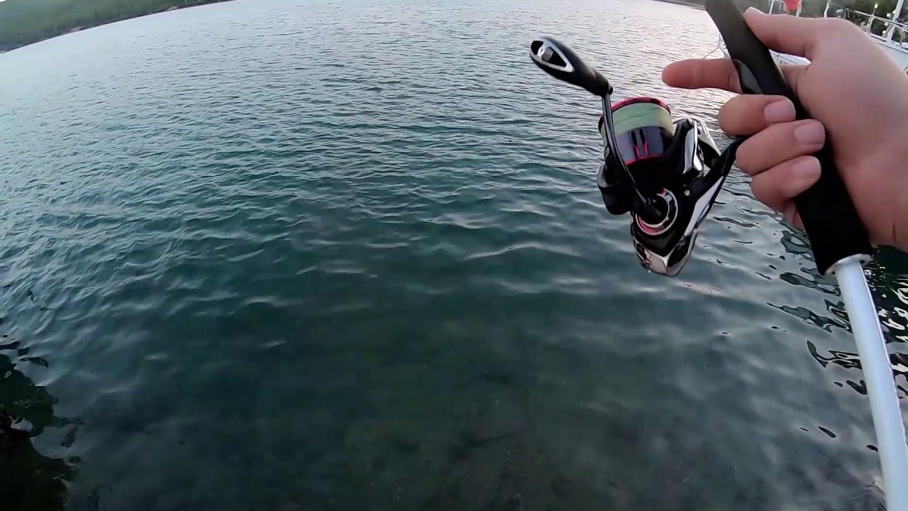 Güvercinlik Spinle Levrek Avı - Seabass Fishing Bodrum