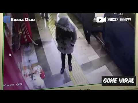 Cruel woman hits cat, steals it's blanket in Turkey