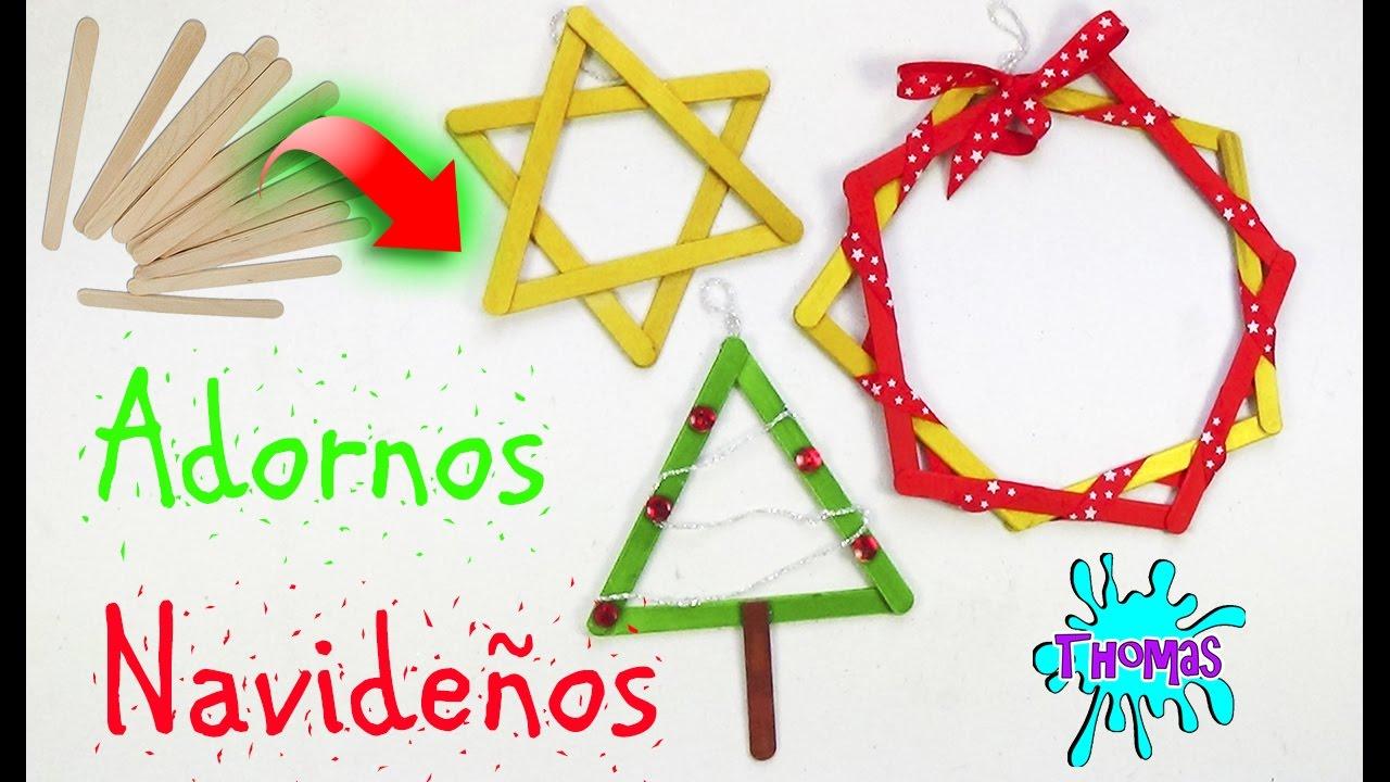 Adornos navide os reciclados con palitos de helados youtube for Adornos navidenos reciclados faciles