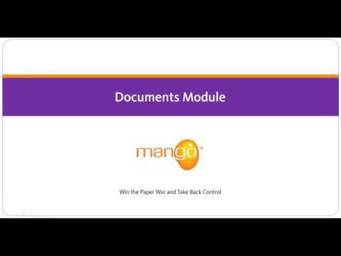Mango - Documents Module