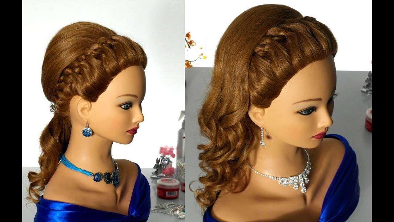 prom hairstyle with 4 strand braid
