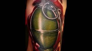 крутые фото готовой тату граната для статьи про значение татуировки граната