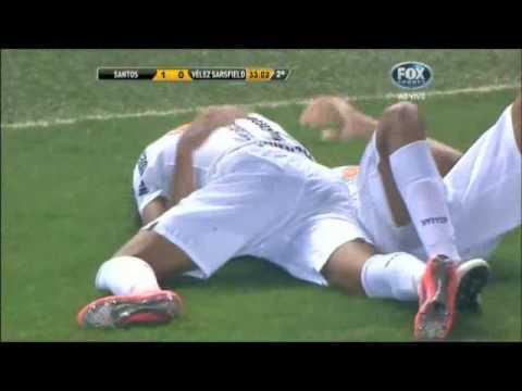 Gol Alan Kardec Santos 1x0 Vélez copa Libertadores 2012