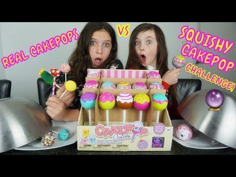REAL CAKEPOPS vs SQUISHY CAKEPOPS CHALLENGE met CHIARA - Bibi