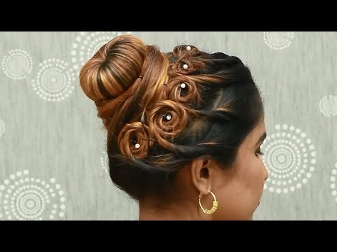 Easy and quick hairstyle with Saree || wedding hairstyle || party hairstyle || hairstyle for ladies