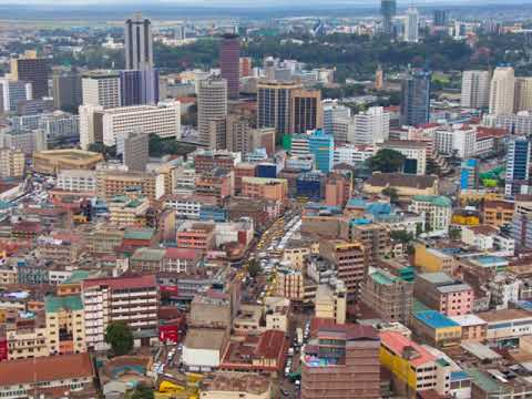 Nairobi, capital of Kenya,  attractive market for business , tourism, hotels, growing skyline