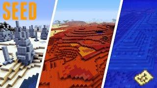 Minecraft - SEED : 2 BIOMES MESA, BIOME ICE PIKE ET TEMPLE AQUATIQUE !