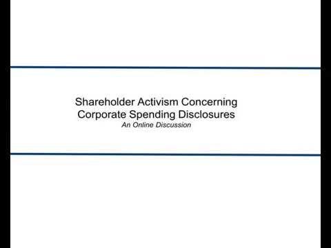 Shareholder Activism Concerning Corporate Spending Disclosures