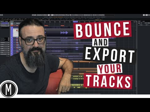 BOUNCE and EXPORT your TRACKS for mixing in CUBASE