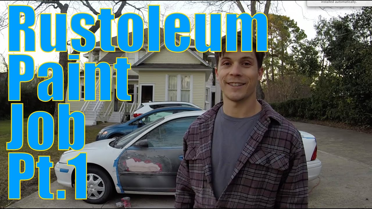 Diy car projects rustoleum roll on paint job pt 1 youtube solutioingenieria Gallery