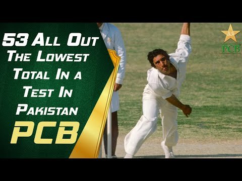 West Indies 53 All Out - The Lowest Total In A Test In Pakistan | West Indies Tour Of Pakistan 1986