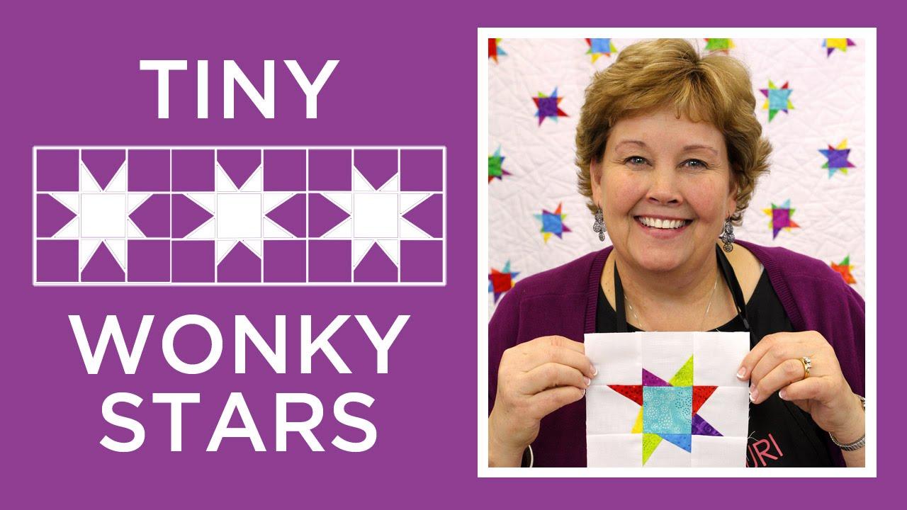 Jennys Tiny Wonky Stars Quilt Youtube