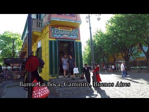 Barrio La Boca, Caminito, Buenos Aires, Argentina - Walking   Oct 2016
