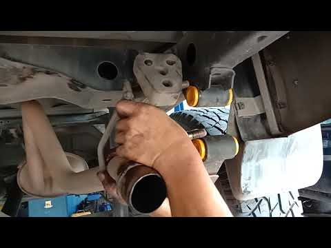 Isuzu Dmax leaf spring bush replacement