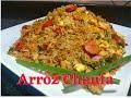 Arroz Chaufa de Pollo fácil, rápido y delicioso