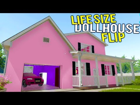 FLIPPING A MASSIVE LIFE SIZED BARBIE TOY DOLLHOUSE?! - House Flipper Beta Gameplay