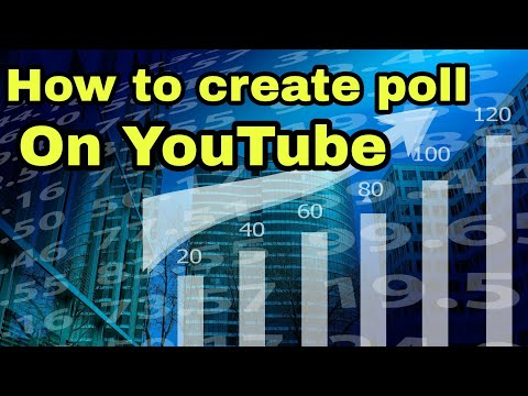 How to create voting poll on you tube |