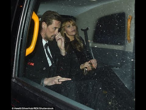 Bleary-eyed Abbey Clancy stumbles a taxi a VERY worse for wear star-studded Global Awards