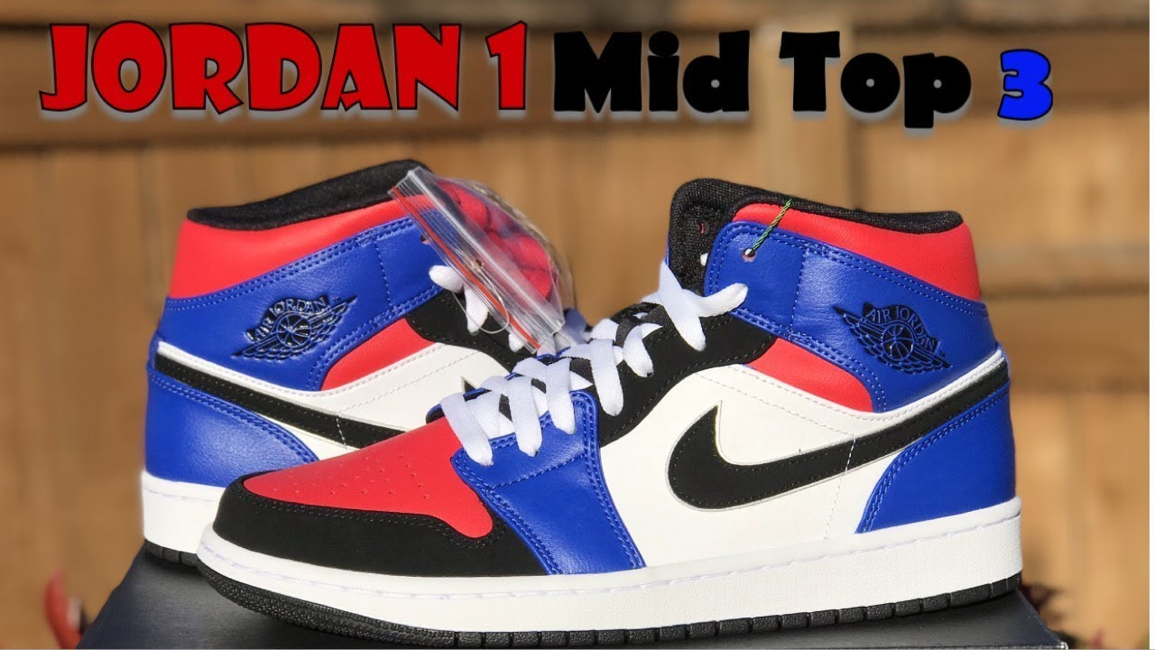 7f7a652fa6e JORDAN 1 MID TOP 3 REVIEW+ON FEET!!! - YouTube