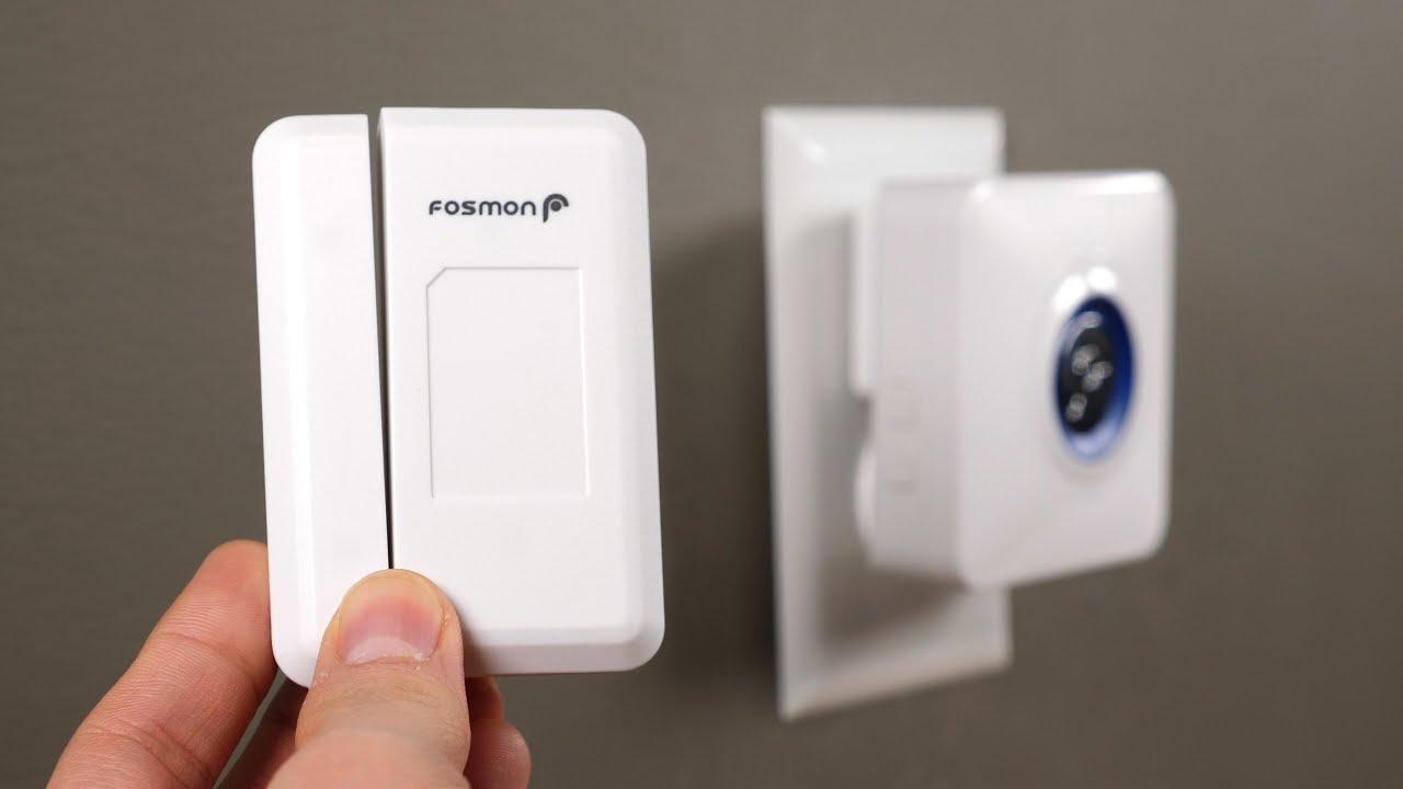 Fosmon WaveLink 51044HOMUS Wireless Door Open Chime 1 Wireless Doorbell Plugin Receiver 120M//400FT   52 Tunes   4 Volume Levels   LED Indicators 2 Magnetic Door Entry Alert Security Contact Sensor