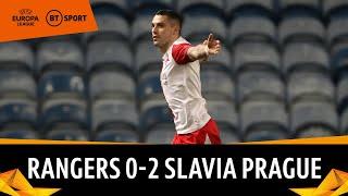 Rangers vs Slavia Prague (0-2) | Gerrard's Nine-Man Gers Out Of Europe | Europa League Highlights