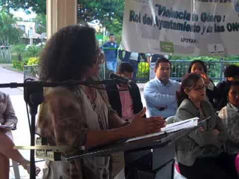 Conferencia Violencia de Género Rol Ayuntamientos y ONGs ASDE CE MUJER.