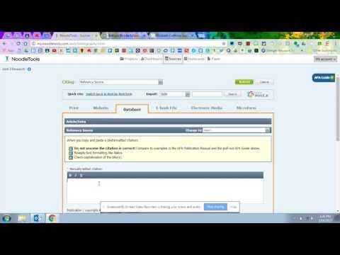 Creating a Source Citation (including copy/paste shortcut)
