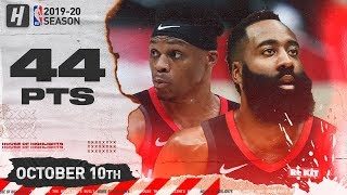 Download Russell Westbrook & James Harden EPIC Full Highlights vs Raptors (2019.10.10) - 44 Pts Combined! Mp3 and Videos