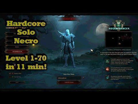 Смотреть клип Diablo 3 - Hardcore Necro - Solo 1-70 in 11 min онлайн бесплатно в качестве