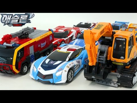 Thumbnail: Tobot Police Rescue Fire Truck Poclain Triple Combine Campion Vehicle Transformer Robot Car Toys