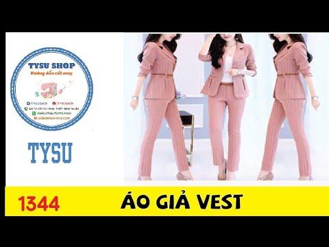 Hướng dẫn cắt may TysuShop số 1344: Áo Giả Vest