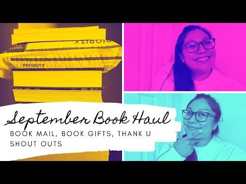 September Book Haul | book mail, book gifts, thank u shoutouts