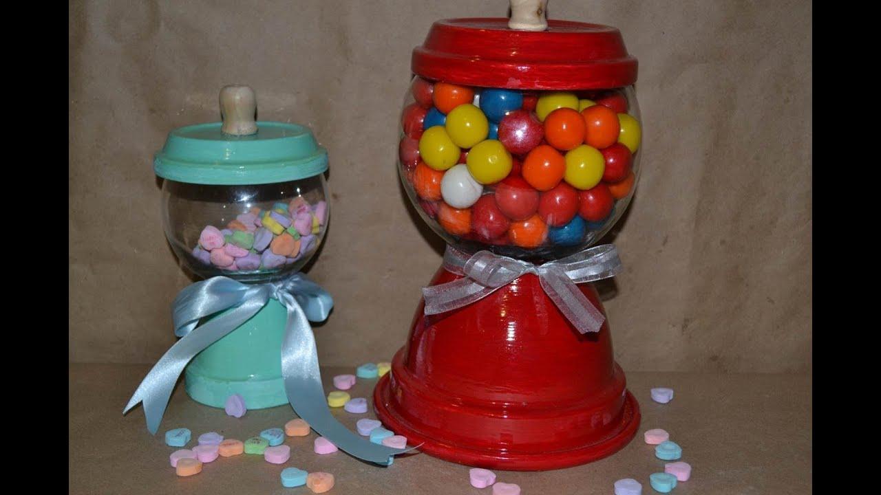 Dulcero maquina de dulces gumball machine youtube for Como hacer una mesa de centro