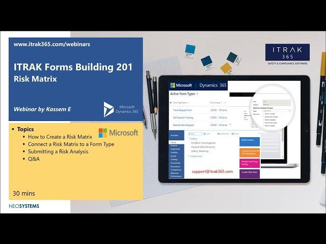 ITRAK Forms Building 201: Risk Matrix