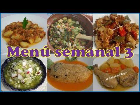 Menú SEMANAL #3, Menú con muchas verduras, 6 platillos en 1 vídeo